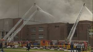 Fire tears through west-end Toronto high school