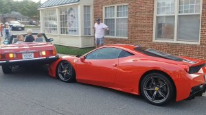 Driver backs into rare Ferrari 458 Speciale