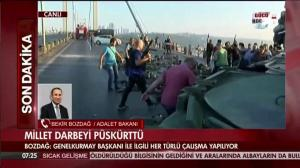 Turkish citizens pick up weapons, gear from soldiers after coup attempt
