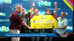 Ottawa-area friends win $60M Lotto Max jackpot