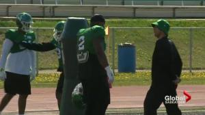 Friendly competition alive between 2 defensive linemen on Roughriders