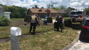 Paramedics return to finish lawn work after treating Florida man for heart attack
