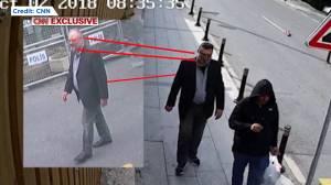 Footage shows man wearing Jamal Khashoggi's clothing following his death