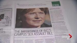 Critics argue Clark's actions tell different story about support for B.C. sex assault survivors