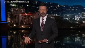 Jimmy Kimmel makes plea to Trump in gun-control monologue