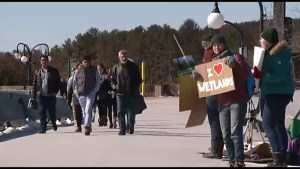 Trent students protest proposed sports complex