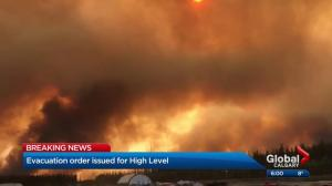 ​High Level residents ordered to evacuate homes due to wildfire