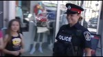 Peterborough police patrol downtown on foot