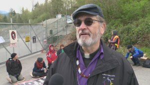 Faith leaders arrested at Kinder Morgan protest site in Burnaby