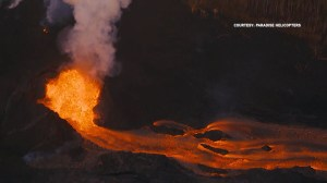 Aerials show eruption of lava from Hawaii's Kilauea volcano