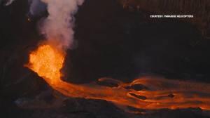 Aerials show eruption of lava from Hawaii's Kilauea volcano