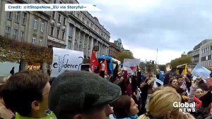 Protesters take to the streets in Ireland in anger over 'thong trial'