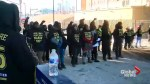 Protesters block light rail in Minneapolis ahead of Super Bowl LII