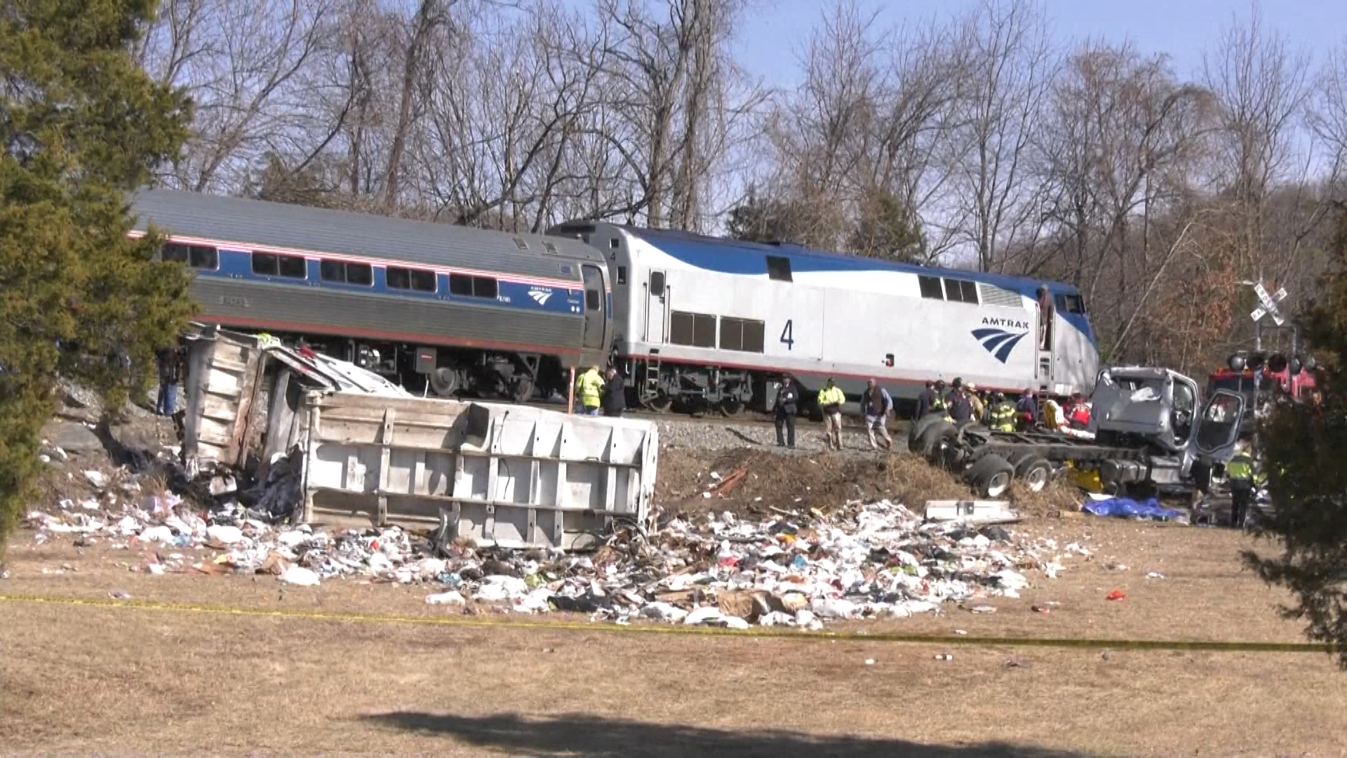 Train carrying GOP lawmakers to retreat hits trash truck