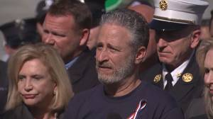 RAW: Jon Stewart lobbies on Capitol Hill for permanent health care for 9/11 first responders