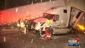 Former Calgarian in Coquihalla crash describes frightening six-vehicle collision