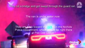 Two women drown in back of sheriff's van during flooding in South Carolina (01:26)