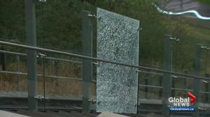 Questions raised about graffiti response after Edmonton's funicular vandalized