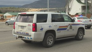 Scene in Penticton from Thursday email bomb threats
