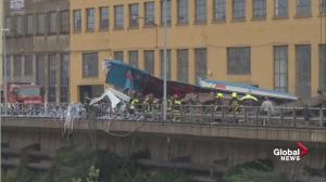 Emergency crews respond to Italy bridge collapse