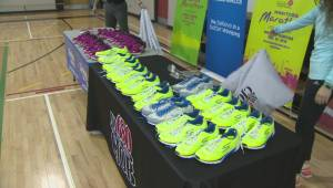 Winnipeg students surprised with new running shoes