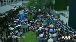 Protesters block traffic in Hong Kong financial hub as protests against extradition law continue