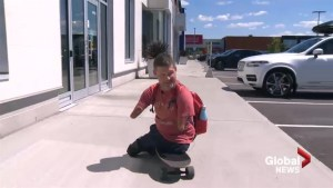 Quadruple amputee hitchhiking across Canada hopes to inspire kindness