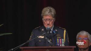Fredericton police chief chokes up remembering her fallen officers (17:45)