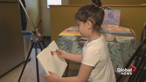 Young N.B. cancer survivor sells paintings to raise money for other kids
