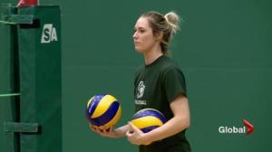 Rookie brings maturity to Saskatchewan Huskies women's volleyball team