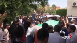 Impromptu funeral procession for Palestinian man killed during protests