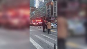 Cellphone footage shows aftermath of midtown Manhattan explosion