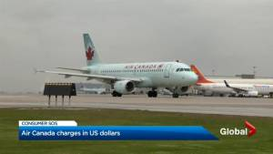 Air Canada bills customer in U.S. dollars.