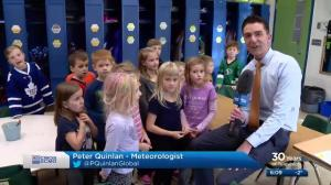 SkyTracker weather school stops in at Hague Elementary School