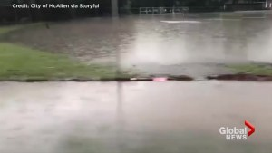 McAllen, TX hit with flash flooding on day of FLOTUS visit