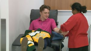 Humboldt Broncos and Saskatoon Blades raise awareness for blood donation