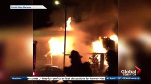 Edmonton fire leaves 1 person in critical condition, destroys home