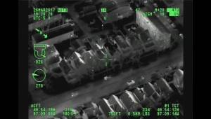 Winnipeg police chopper's infrared camera at work in supplied video