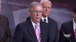 Mitch McConnell reiterates that FBI investigation has cleared Kavanaugh