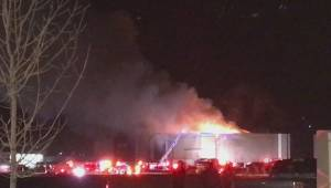Crews battle fire at Cineplex theater in south Calgary Sunday