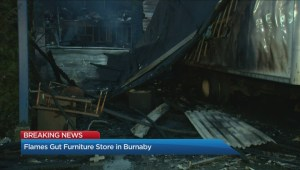 Fire guts Burnaby furniture store