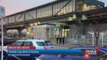 Police search for suspect after shooting at Skytrain Station
