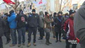 City workers protest at Montreal city hall