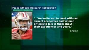 Police unions, departments fire back at 49ers quarterback Colin Kaepernick