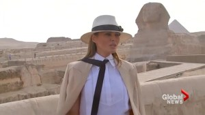 Melania Trump dodges question on hat worn during Kenya safari : 'Focus on what I do'