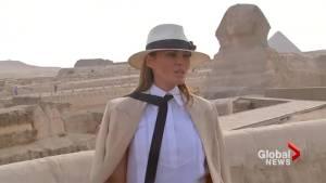 Melania Trump dodges question on hat worn during Kenya safari : 'Focus on what I do'