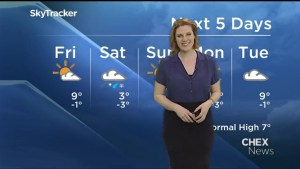 Sunshine for Friday, snow for Saturday in Peterborough and area