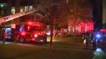 Firefighter taken to hospital with 'critical' injuries as crews contain five alarm fire in Etobicoke