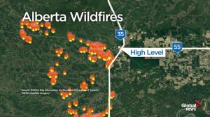 High Level wildfire Friday morning update