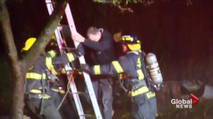 Abbotsford firefighters rescue 12 people from burning apartment